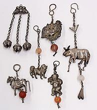 Group of Chinese Silver Toggles