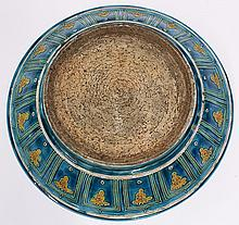 Chinese Fahua-style Porcelain Plate
