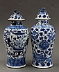 Two Chinese Blue-and-White Porcelain Jars