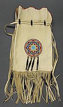Native American, handmade leather shoulder bag