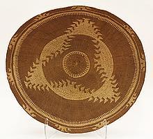 Klamath basketry gaming tray