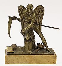 Continental gilt bronze figural sculpture
