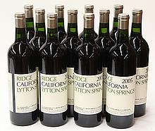 (lot of 12) 2005 Ridge Vineyards