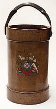 British leather fire bucket