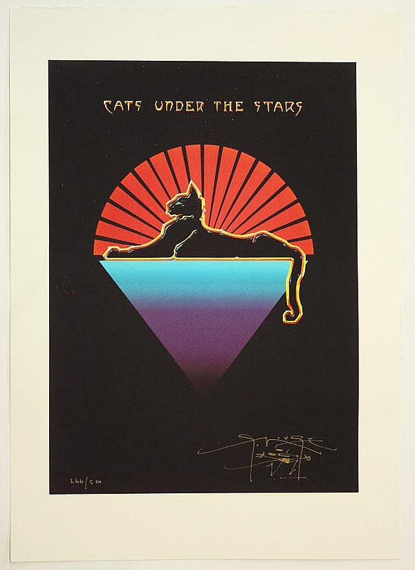 Serigraph, Stanley Mouse, Cats Under the Stars