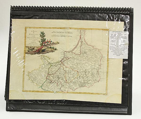 Thirty 18th century maps by Zatta & Euler