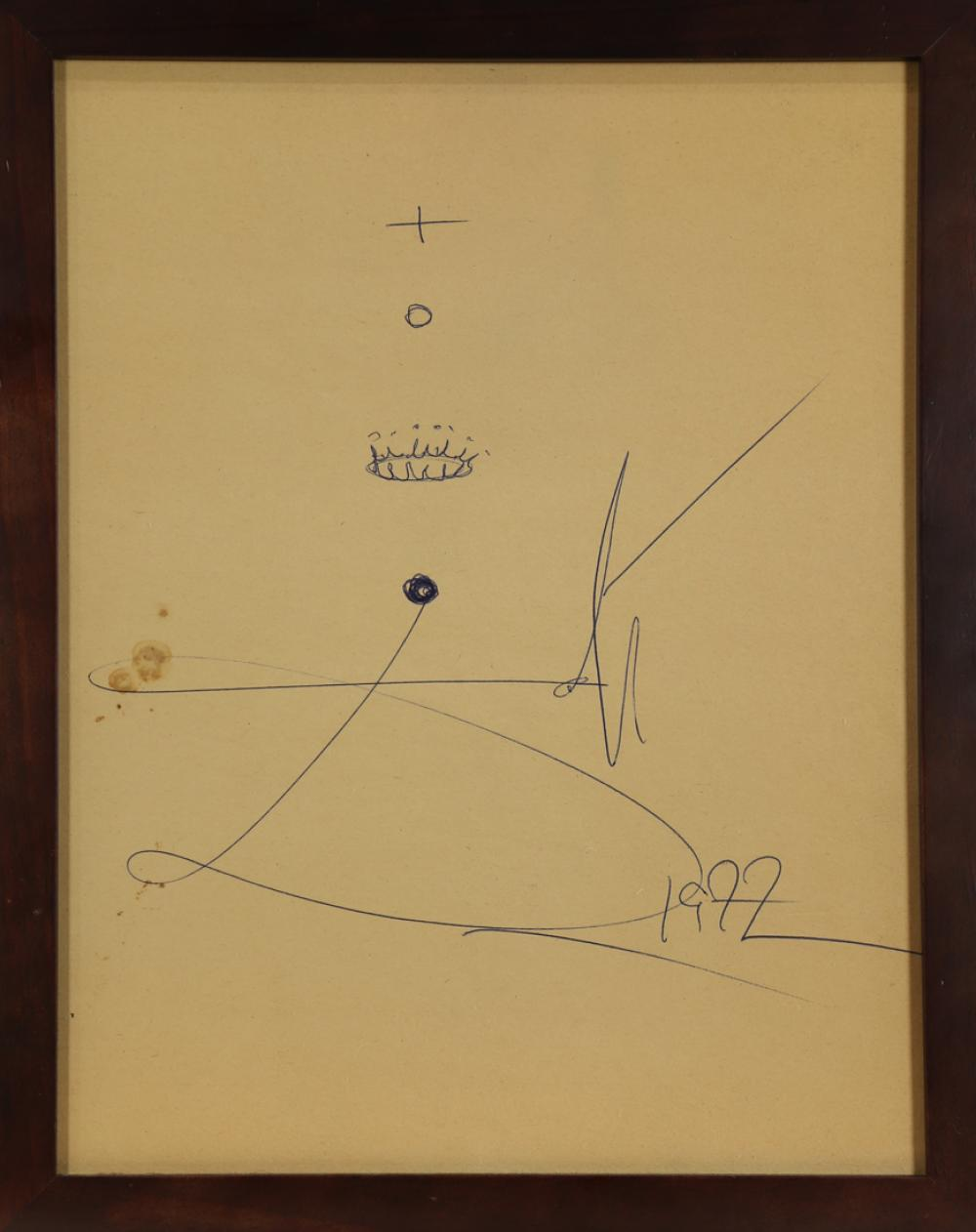 Work on Paper, Attributed to Salvador Dali