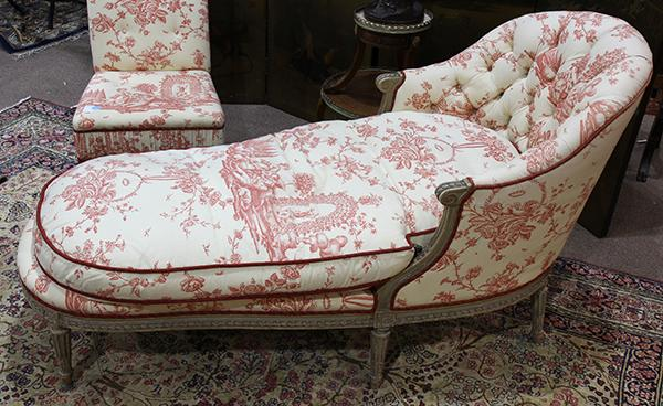 Louis xvi style chaise lounge the relief carved frame suppo for Chaise style louis xvi occasion