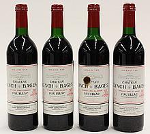 (lot of 4) 1986 Chateau Lynch & Bages Pauillac, Bordeaux, France, each 750ml