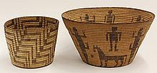 Native American Pima basketry group