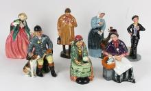 (lot of 11) Royal Doulton figural group, circa 1980, each polychrome decorated, including