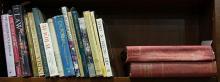 One shelf of mostly art books