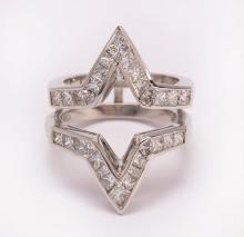 Diamond and platinum guard ring