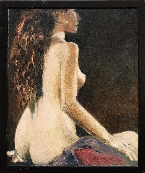 Painting, Stanley Mouse, Seated Nude