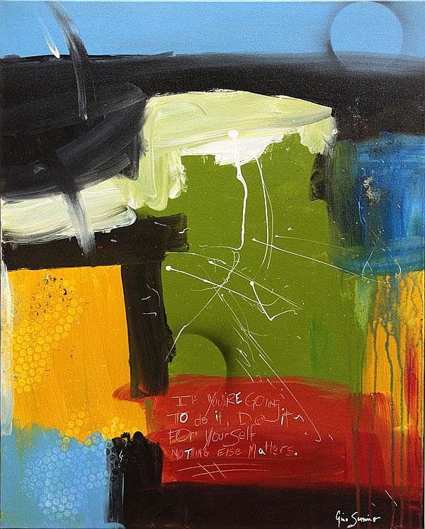 Painting, Gino Savarino, Abstract