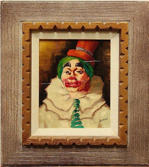 Painting, Julian Ritter, Clown