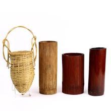Japanese Bamboo Ikebana Vases