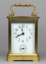 Duverdy & Bloquel carriage clock, the movement incised with the initials