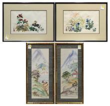 Japanese Paintings, Spring Flowers, Autumn Grass, Landscape