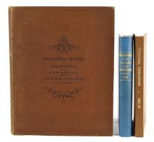 (lot of 3) Books on 19th century California viticulture and agriculture, including: