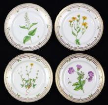 (lot of 4) Royal Copenahagen Flora Danica luncheon plates