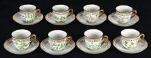 (lot of 16) Royal Copenhagen Flora Danica demitasse cups and saucers