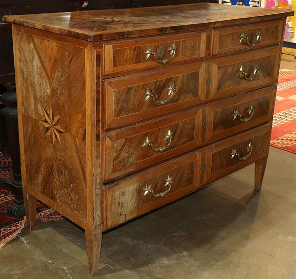Continental inlaid chest, c