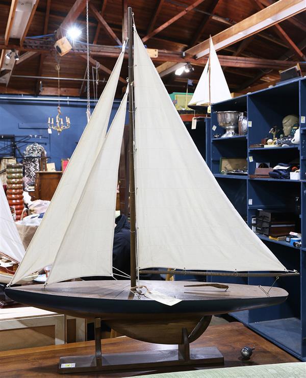 Wood sailboat model