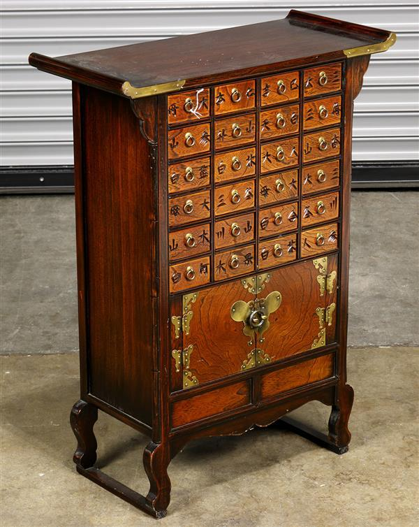 Korean wooden apothecary cabinet, 32
