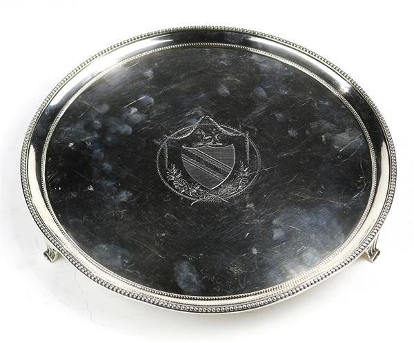 English George III sterling silver salver