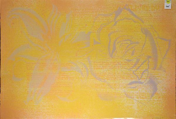 Print, Lowell Nesbitt, Flower