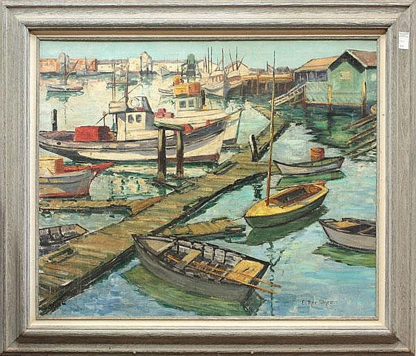 Painting, Esther Smee, Long Beach Harbor