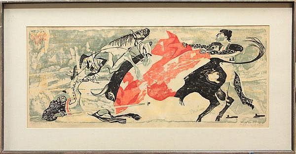 Woodcut, Frederick O'Hara, Picador