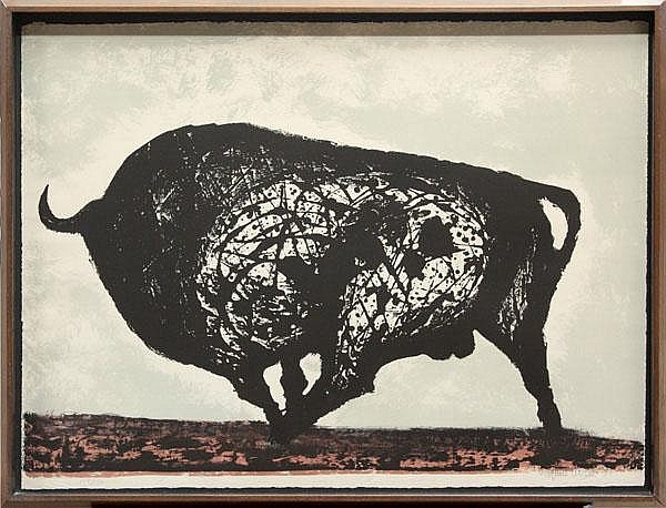 Lithograph, Joaquin Vaquero Turcios, Toro