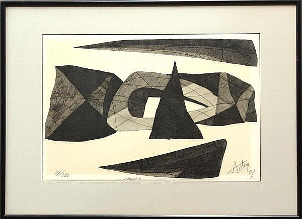 Lithograph, Henri-Georges Adam, Abstract