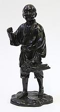 Japanese Patinated Bronze Okimono