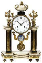 Louis XVI ormolu mounted portico clock, second half 18th century