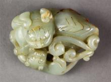 Chinese Hardstone Fu-lions