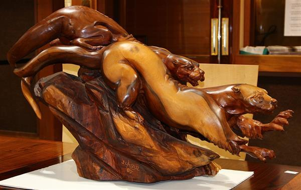 Wood sculpture, J Chester (Skip) Armstrong
