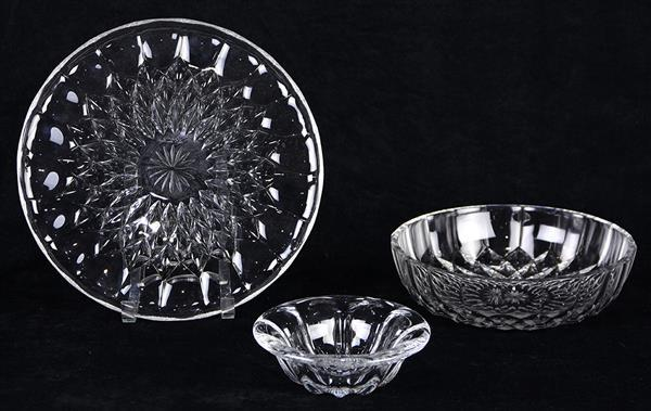 Val St. Lambert cut crystal serving dishes