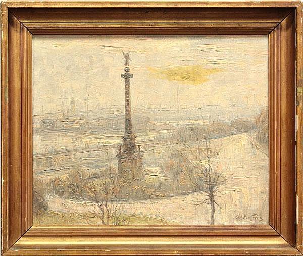 Painting, Acton Friis, Paris Rivers