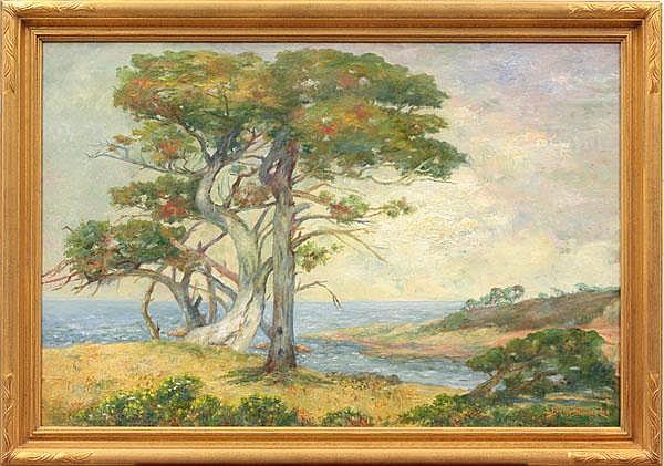 Painting, Bertha Lee Stringer, Pebbke Beach