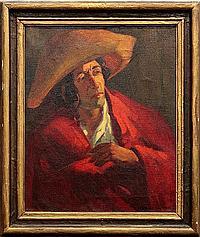 Painting, Leslie W. Lee, Mexican Gentleman