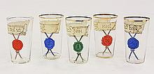 (lot of 5) Moser tumblers