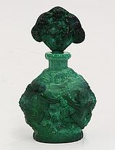 Art glass stoppered perfume bottle