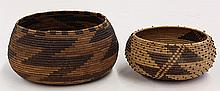 Antique Native American Pomo baskets