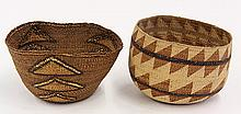 (lot of 2) Northern California Native American baskets