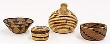 (lot of 4) Native American miniature baskets