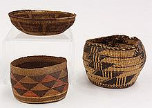 (lot of 3) Native American baskets