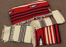 (lot of 4) Native American Chimayo blankets